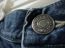Lands' End Boys sz 14 Blue Denim Carpenter Pants Jeans 100% Cotton