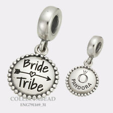 Authentic Pandora Sterling Silver Bride Tribe Dangle Bead ENG791169_31
