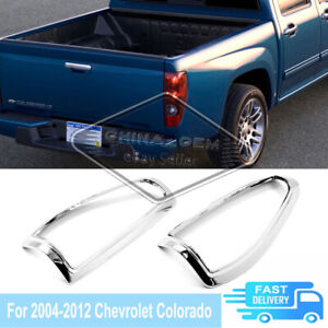 For 2004 - 2012 Chevrolet Colorado Chrome Plated Rear Taillight Bezel Cover Trim