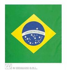 Brazil Brazilian Flag Bandana 55X55Cm Biker Head Wrap Scarf