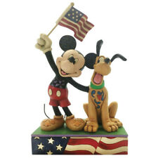 Disney Traditions A Banner Day (Mickey and Pluto Patriotic Figurine) 6005975