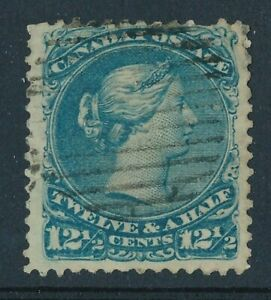 CANADA 1868 USED #28, LARGE QUEEN 12.5c !! E67