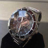 Mens Citizen Chronograph Watch Eco Drive H500 Series Black Steel Genuine