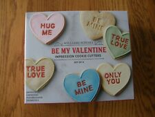 Williams Sonoma Conversation Valentine Heart Cookie Cutter Set-True Love,Hug Me
