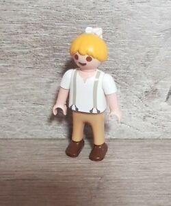 Playmobil  Figuren Kind  Mädchen mit Zopf  Puppenhaus