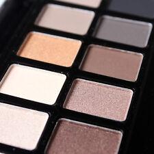 12 Farben Matte Schimmer Palette Lidschatten + Pinsel Cosmetics Make-up Set