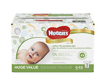 HUGGIES Natural Care Baby Wipes, Refill Pack (648 Sheets Total)