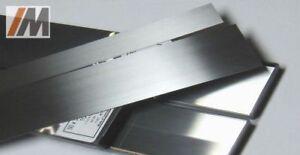 Set: gehärteter Werkzeugstahl C-Stahl 1.2003 L/B/S 300/50/1,2-5,0mm +Scotchbrite