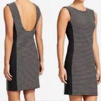 Athleta Size XS Black White Striped Mala Bodycon Tank Dress Stretchy Sleeveless