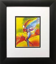 "Peter Max ""Angel on Sun""  NEWLY CUSTOM FRAMED Pop Art Print Psychedelic"
