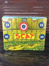 Vintage Scat The Jumping Cat Tin Litho Dart Gun Target