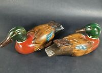 Vintage Hand Painted Carved Wood Wooden Mallard Duck Decoy Cabin Decor