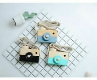 Wooden Cute Camera Baby Kids Hanging Camera Photography Prop Decoration Toy Play