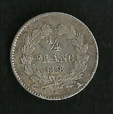 1/4 Franc Louis Philippe 1838 A Argent TTB