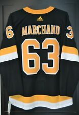 Brad Marchand Boston Bruins Adidas Authentic Alternate NHL Hockey Jersey Size 50
