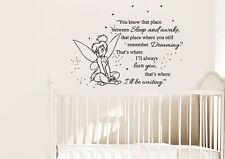 Vinyl Wall Decal Sticker Peter Pan Never Land Kids Tinkerbell Nursery r1545