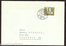 Switzerland 1960 Postally used cover with Imperf Owl stamp, Birds (G5n)