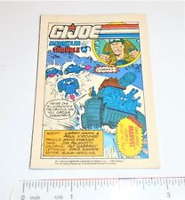 GI Joe Hasbro / Marvel Mini Comic 1992              Mountain Trouble