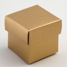 Gold Silk Box & Lid PACK OF 10 Wedding Favour Gift 11090