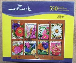 NEW A 550 PIECE JIGSAW PUZZLE BY HALLMARK - FLOWER SEEDS