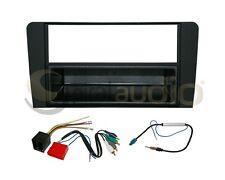 Radio Dash Kit Combo Single DIN RUBBERIZED BLACK + Wire Harness + Antenna AU15