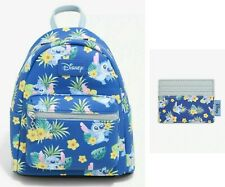 Loungefly Disney Lilo & Stitch tropical mini backpack bag & ID cardholder wallet