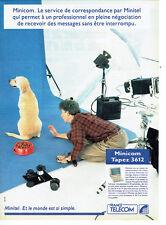 Publicité Advertising 078  1992  France Telecom  minitel minicom