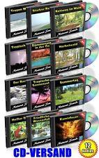 CD VERSAND - NATURKLÄNGE Vol. 1-12 BERUHIGUNGS-CD 1,60GB Nature Sounds Wellness