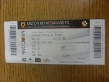 02/05/2012 Ticket: Play-Off Semi-Final League 1 - Milton Keynes Dons v Huddersfi