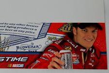 9 Dale Earnhardt Jr Budweiser Beer Nascar Racing Tv Talkers Bookshelf Sign