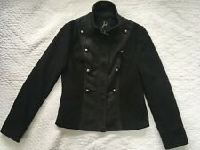Anthropologie Jack Jacket XS/S Black Gray Tweed Wool Blend Military Look NWOT