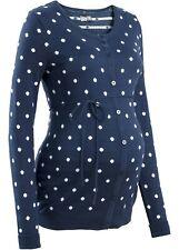 Umstands-Strickjacke mit Pünktchen Gr. 52/54 Blau Weiß Damen Strick-Jacke Neu*
