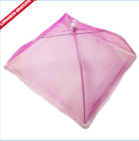 CLOCHE A FROMAGE ROSE 30 CM ALIMENTAIRE PLIANTE TULLE PROTEGE INSECTE