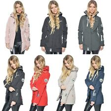 Marikoo Damen Softshell Jacke Zimtzicke Winterjacke Regenjacke wasserabweisend