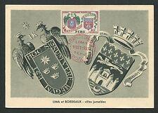 Perú Mk 1957 lima burdeos emblema Blazon maximum mapa maximum card mc cm d4615