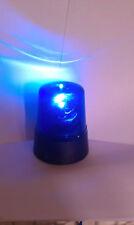 LED Mini Blue Beacon Battery Police Light rotating DJ Disco Lighting
