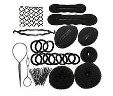 JZK Bun maker roller braid twist sponge bumpits pad donut elastics U hair pin h