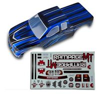 1:5 Redcat Rampage Monster RC Truck Blue & Black Body Shell With Decals MT XT