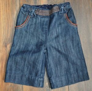 Next Baby Girl Jeans Denim Crop Trousers  3-6 Months