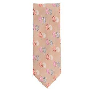 Basic Ties Krawatte Klassisch Polyester Braun Paisley 8 cm