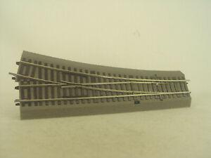 Weiche  rechts Wr 15  - Roco Line mit Bettung HO Gleis  #219 - gebr.