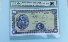 IRELAND 1975 10 POUNDS AU PMG 50