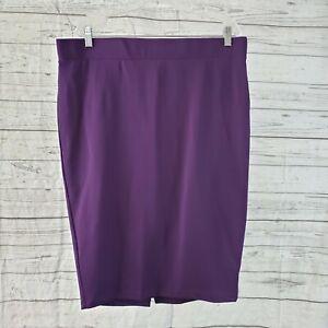 Torrid Womens Ponte Pencil Skirt Sz 2 Solid Purple Pull On
