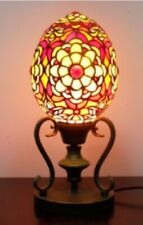 Tiffany Style Table Lamp St Vladimir Egg Handcrafted Light Glass Stained Desk