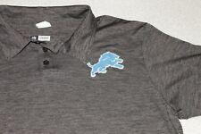 Detroit Lions NFL Football Team Apparel Golf Polo Size Adult Large Short Sleeve