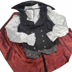 Dracula Costume Top Cape Shirt Vest Size Medium Adult Spirits Halloween
