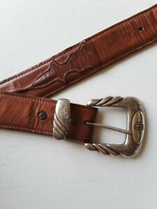 Lucchese Classic Western Brown Leather Belt W4251  Men's 38