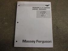 Perkins 4.41 4 41 series diesel engine motor service & repair manual