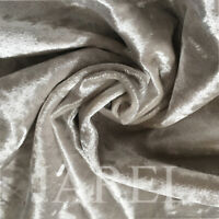 Cream Crushed Velvet Upholstery & Curtain Fabric - soft flexible cushions covers