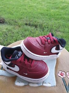 """Nike Air Force 1 LV8 2 """"Team/Red/White"""" BRAND NEW Toddler 6C"""